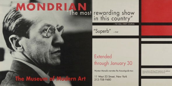 Museum of Modern Art Mondrian Exhibit Poster
